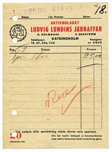 Kvitto från 1948
