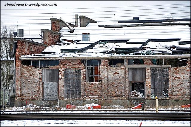 Längs järnvägen vid banområdet - Varberg - 2016-02-18