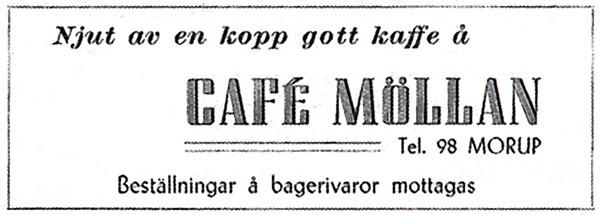 Café Möllan, Morup, Falkenbergs kommun - 1948